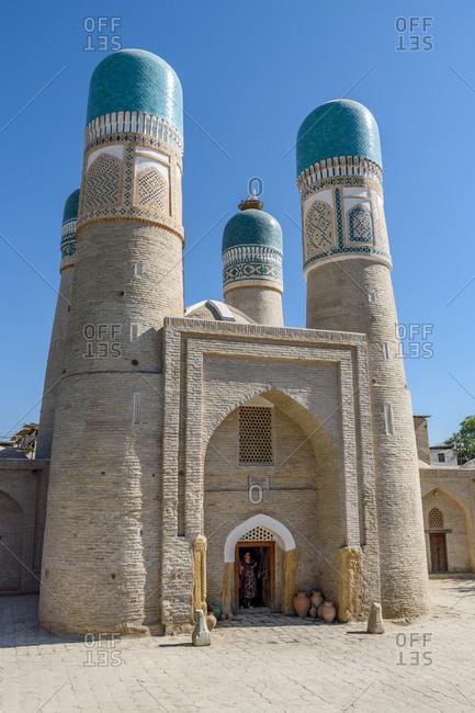 Bukhara, Uzbekistan - August 9, 2018: Chor Minor
