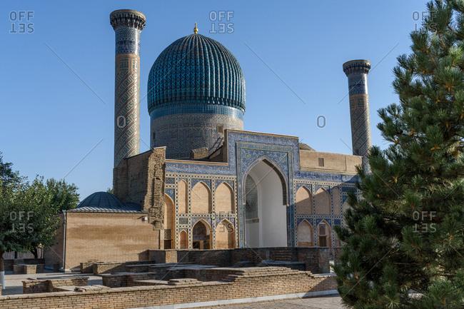 Samarkand, Uzbekistan - August 13, 2018: Gur-e-Amir