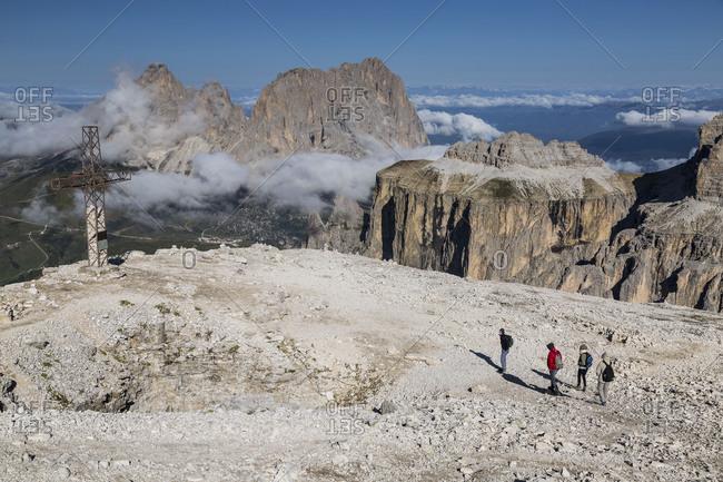 September 15, 2017: Europe, Italy, Alps, Dolomites, Mountains, Trentino-Alto Adige/Sudtirol, Sassolungo, View from Sass Pordoi
