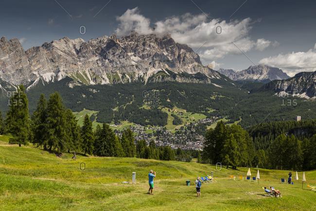 September 15, 2017: Europe, Italy, Alps, Dolomites, Mountains, Veneto, Belluno, Cortina d'Ampezzo, Pocol