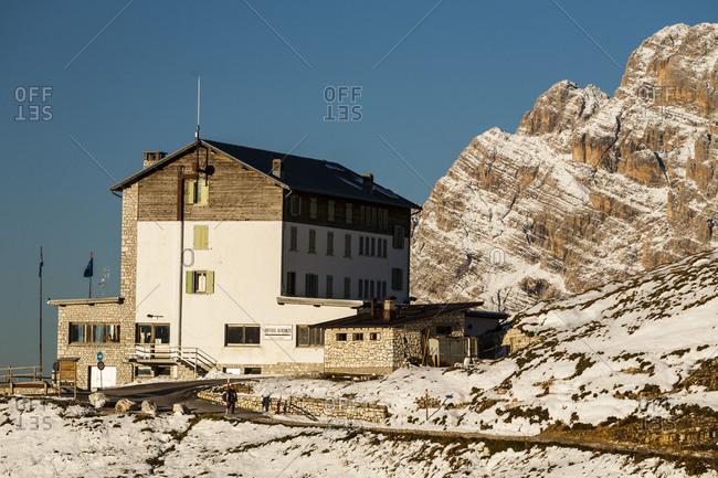 September 15, 2017: Europe, Italy, Alps, Dolomites, Mountains, Belluno, Sexten Dolomites, Rifugio Auronzo, Tre Cime