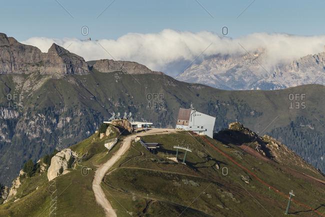 Europe, Italy, Alps, Dolomites, Mountains, Trento, View from Rifugio Sass Bece