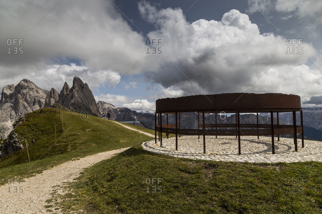 September 15, 2017: Europe, Italy, Alps, Dolomites, Mountains, South Tyrol, Val Gardena, Geislergruppe, Seceda