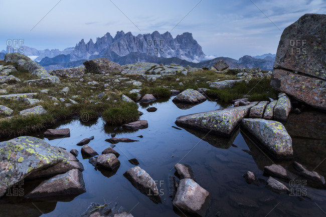 Europe, Italy, Alps, Dolomites, Mountains, Pale di San Martino, View from Col Margherita Park