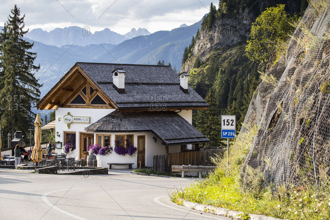 September 15, 2017: Europe, Italy, Alps, Dolomites, Veneto, Belluno, Colle Santa LuciaCivetta, view from Belvedere