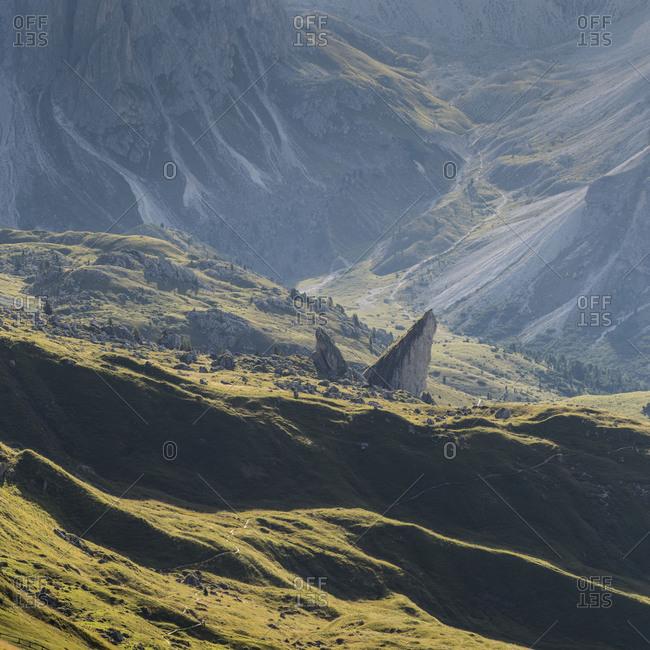 Europe, Italy, Alps, Dolomites, Mountains, South Tyrol, Val Gardena, Malga Pieralongia Alm