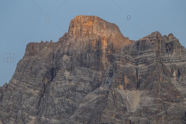 Europe, Italy, Alps, Dolomites, Veneto, Belluno, Colle Santa LuciaMonte Pelmo
