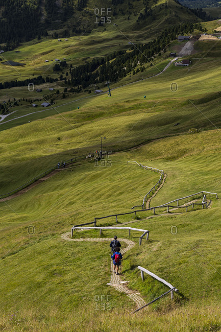 September 15, 2017: Europe, Italy, Alps, Dolomites, Mountains, South Tyrol, Val Gardena, View from Seceda