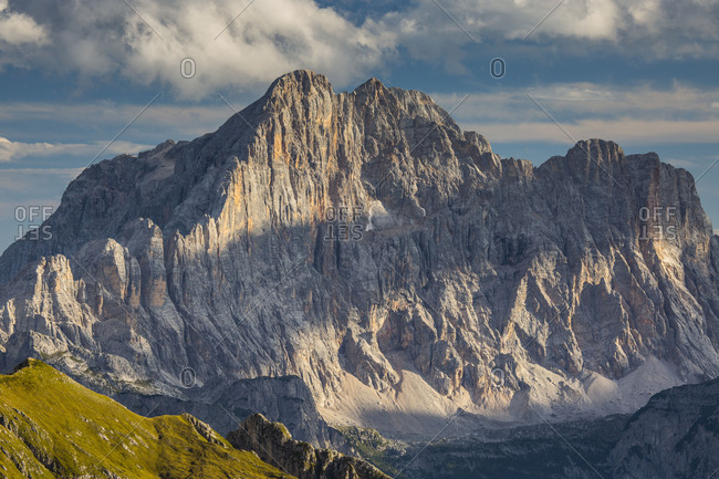 Europe, Italy, Alps, Dolomites, Mountains, Civetta, View from Rifugio Nuvolau