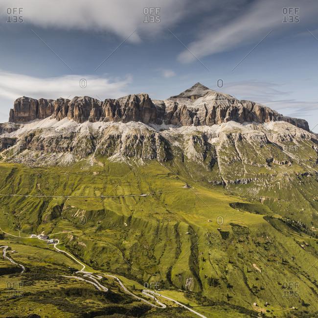 Europe, Italy, Alps, Dolomites, Mountains, SellaPasso Pordoi