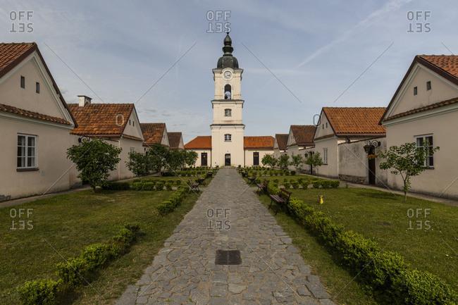 Europe, Poland, Podlaskie Voivodeship, Suwalskie / Suwalszczyzna Wigry The former Camaldolese monastery on the lake Wigry