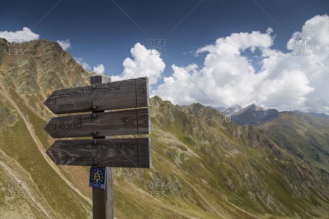 September 15, 2017: Europe, Austria/Italy, Alps, Mountains, View from Passo Rombo Timmelsjoch