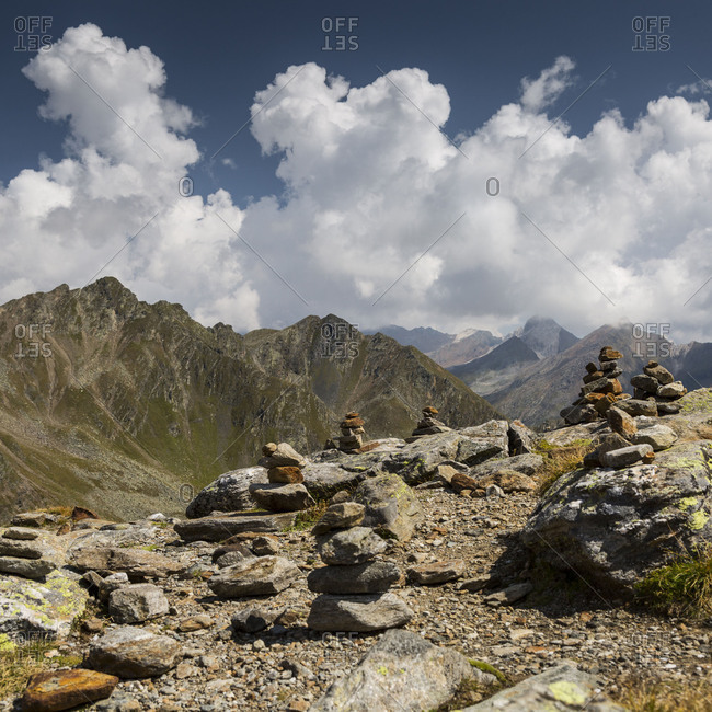Europe, Austria/Italy, Alps, Mountains, View from Passo Rombo Timmelsjoch