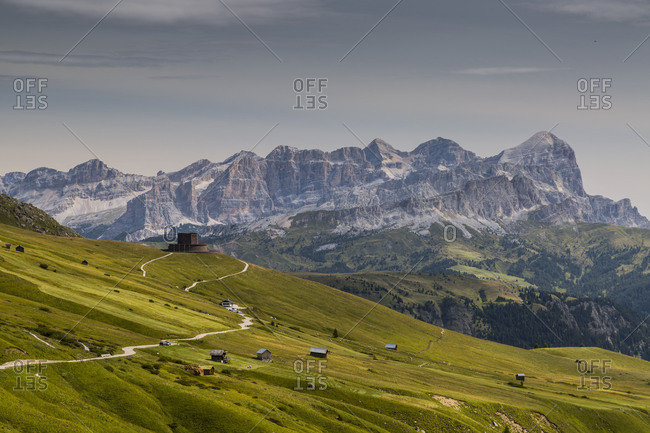Europe, Italy, Alps, Dolomites, Mountains, Pordoi Pass