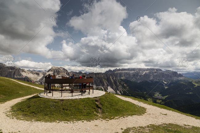 September 15, 2017: Europe, Italy, Alps, Dolomites, Mountains, South Tyrol, Val Gardena, Geislergruppe, Seceda