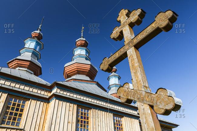 Europe, Poland, Podkarpackie Voivodeship, Komancza, Orthodox church Cerkiew Opieki Matki Bozej