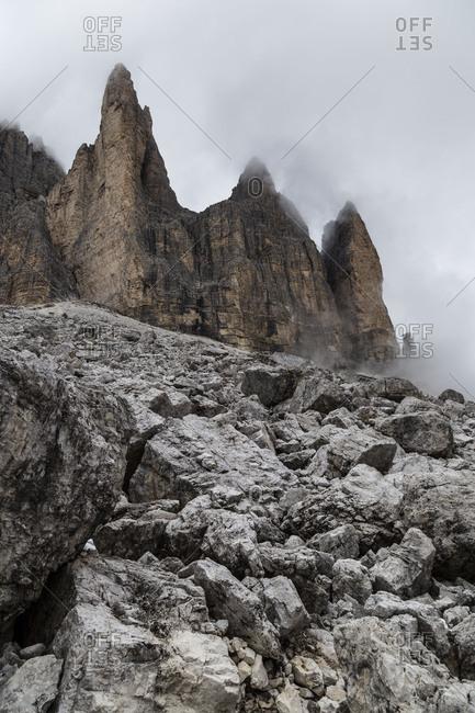 Europe, Italy, Alps, Dolomites, Mountains, Tre Cime di Lavaredo