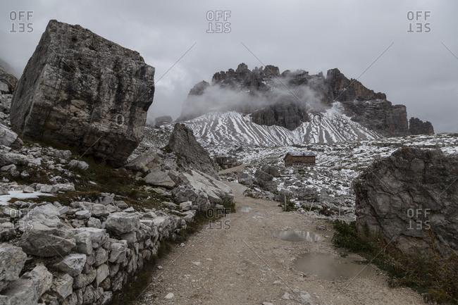 Europe, Italy, Alps, Dolomites, Sexten Dolomites, Veneto, Belluno, Rifugio Lavaredo