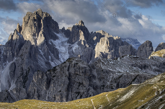 Europe, Italy, Alps, Dolomites, Mountains, Belluno, Sexten Dolomites, Cadini di Misurina