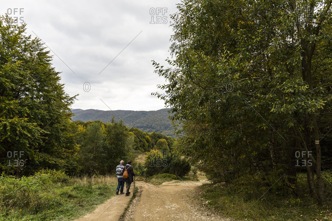 October 26, 2017: Europe, Poland, Podkarpackie Voivodeship, Bieszczady, Polonina Wetlinska Bieszczady National Park