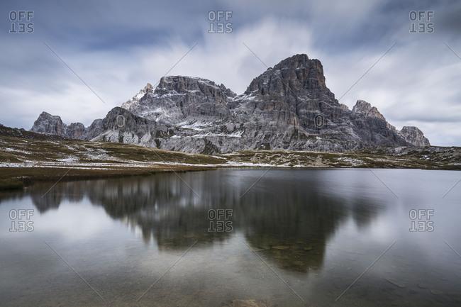 Europe, Italy, Alps, Dolomites, Mountains, Belluno, Sexten Dolomites, Laghi dei Piani