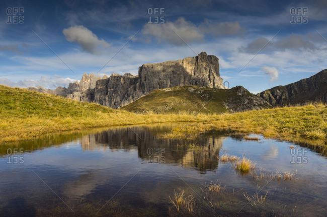 Europe, Italy, Alps, Dolomites, Mountains, Veneto, Belluno, Giau Pass, Lastoni di Formin, Croda da Lago