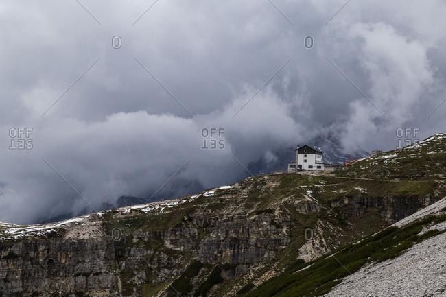 Europe, Italy, Alps, Dolomites, Mountains, Belluno, Sexten Dolomites, Rifugio Auronzo, Tre Cime