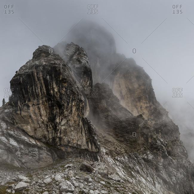 Europe, Italy, Alps, Dolomites, Mountains, Veneto, Belluno, Giau PassTorre Dusso, Loschiesuoi, Monte Cernera