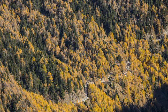 Europe, Austria/Italy, Alps, South Tyrol, Mountains Passo Rombo Timmelsjoch High Alpine Road