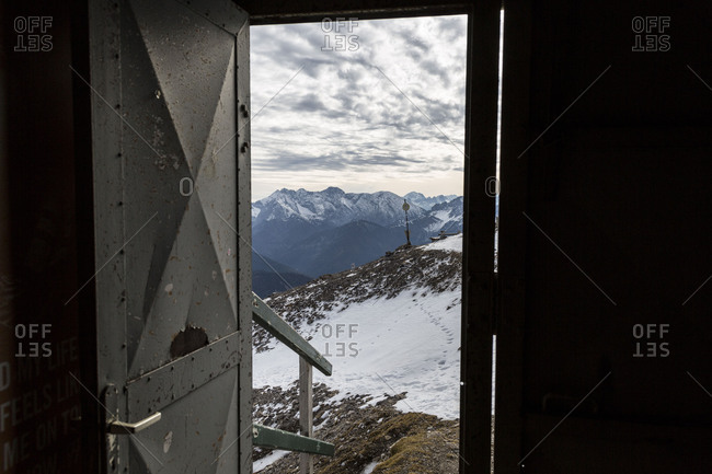 Europe, Germany, Bavaria, Alps, Mountains, Mittenwald, Karwendelbahn Tunnel