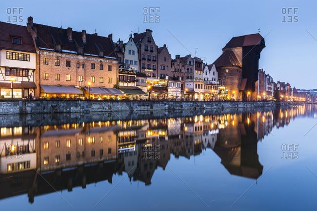 February 21, 2018: Europe, Poland, Pomerania, Gdansk/Danzig, Motlawa River, The medieval port crane Zuraw, Old Town
