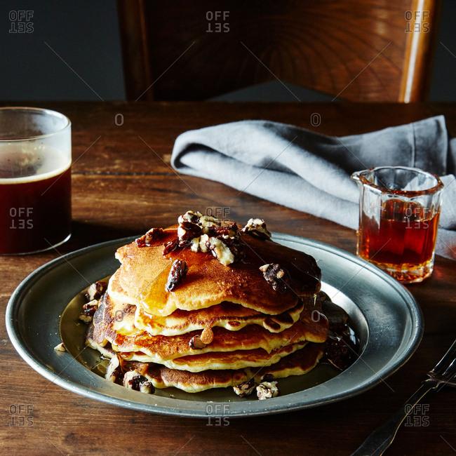 Pancake nuts breakfast