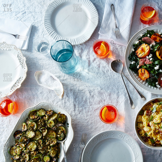 Summer dinner from the Offset Collection