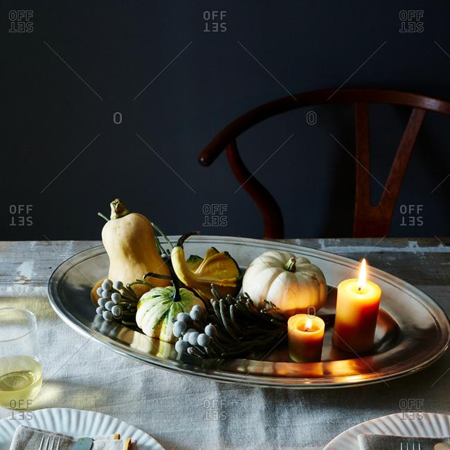Autumn serving platter