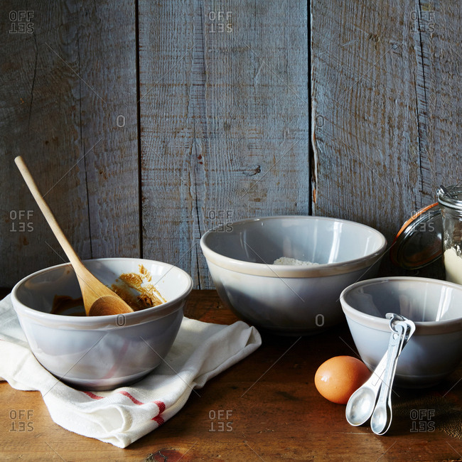 Mixing bowls from the Offset Collection