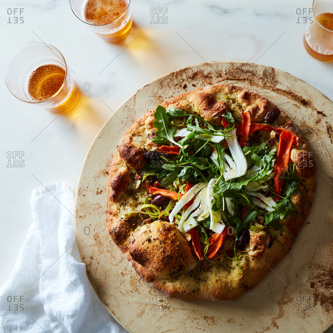 Homemade pizza from the Offset Collection
