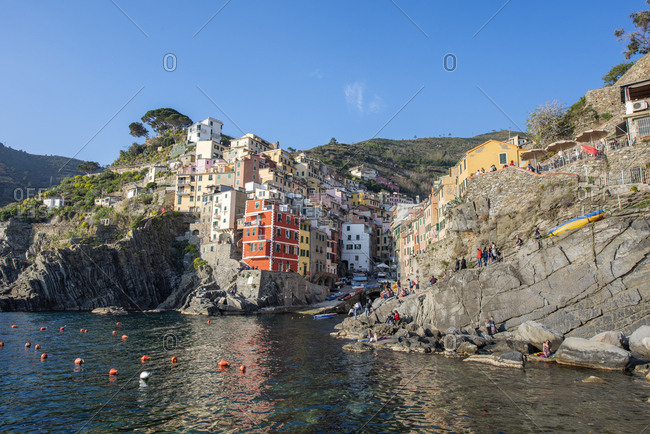 April 9, 2017: Italy- Liguria- La Spezia- Cinque Terre National Park- Riomaggiore