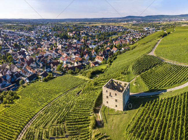 Germany- Baden-Wurttemberg- Rems Valley- Stetten- Yburg Castle