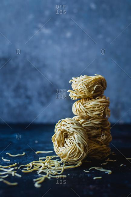 Stack of homemade pasta