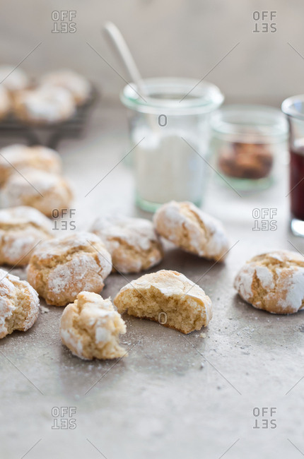 Sugary flaky biscuits