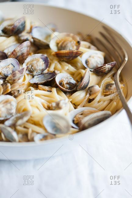 Clam and pasta dish