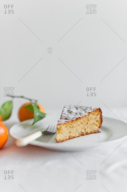 Slice of Clementine cake