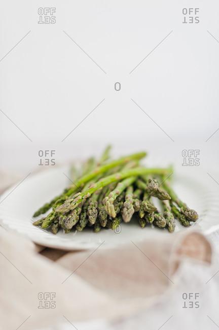 Asparagus on a plate