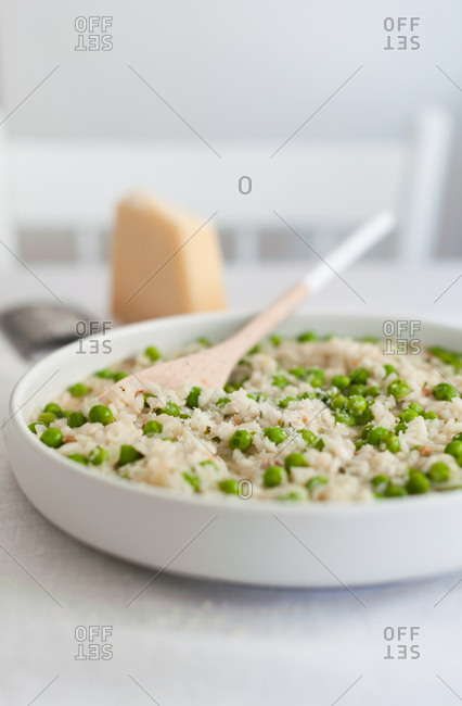 Risotto and peas