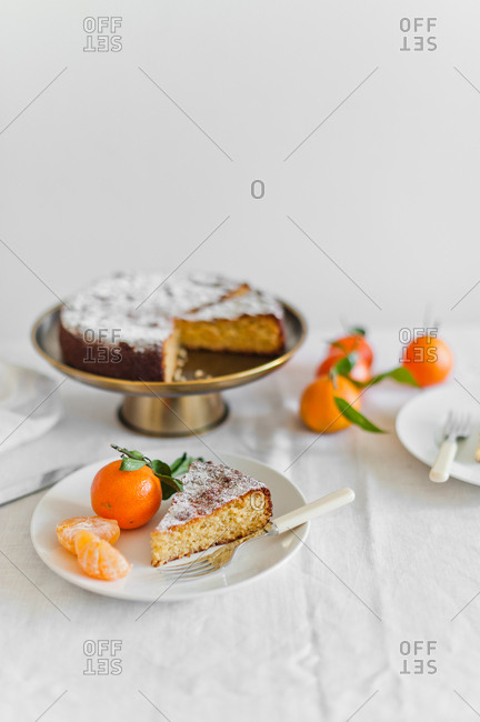 Piece of Clementine cake