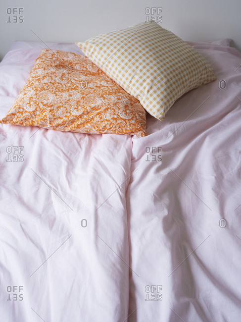 August 18, 2010: Bed with two throw pillows