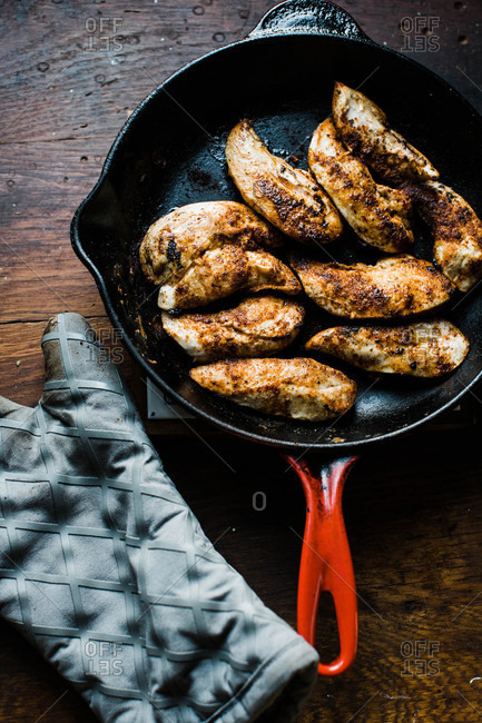 Chicken in a skillet