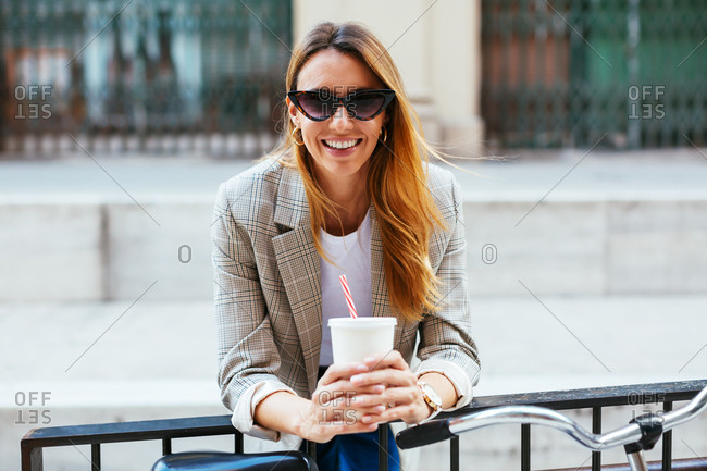 Portrait of stylish woman in the city.