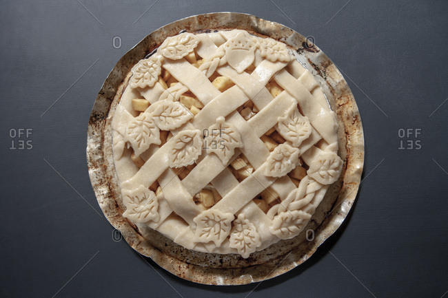 Apple Pie, High Angle View