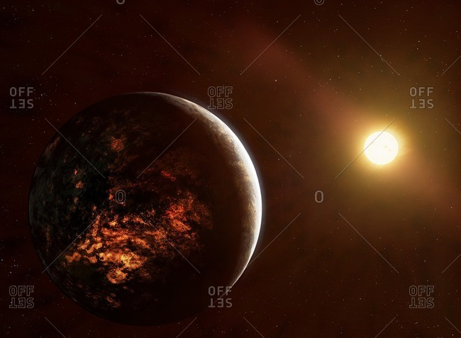 Illustration of the planet 55 Cancri e, also called Janssen
